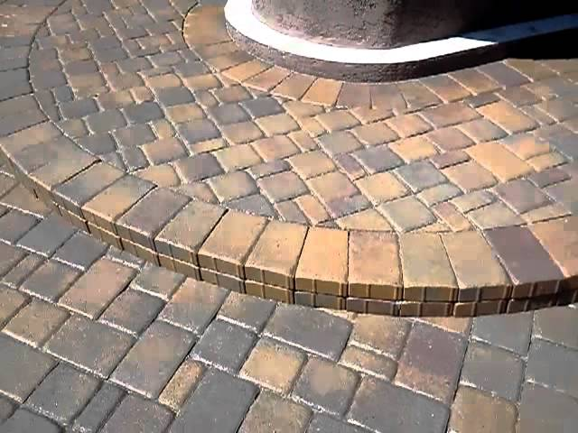 finished paver patio sealing with wet