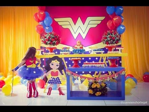 Fiesta de la mujer maravilla hero girls fiestas infantiles - Jardines decorados para fiestas ...