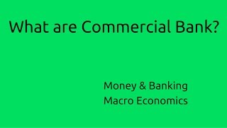 what are commercial bank   budget   money   banking   ca cpt   cs cma foundation   class 11