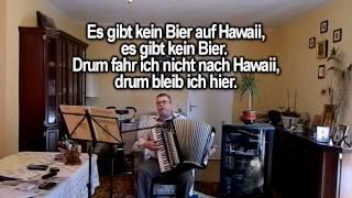 ES GIBT KEIN BIER AUF HAWAII ohne Vokal mit Text zum Mitsingen