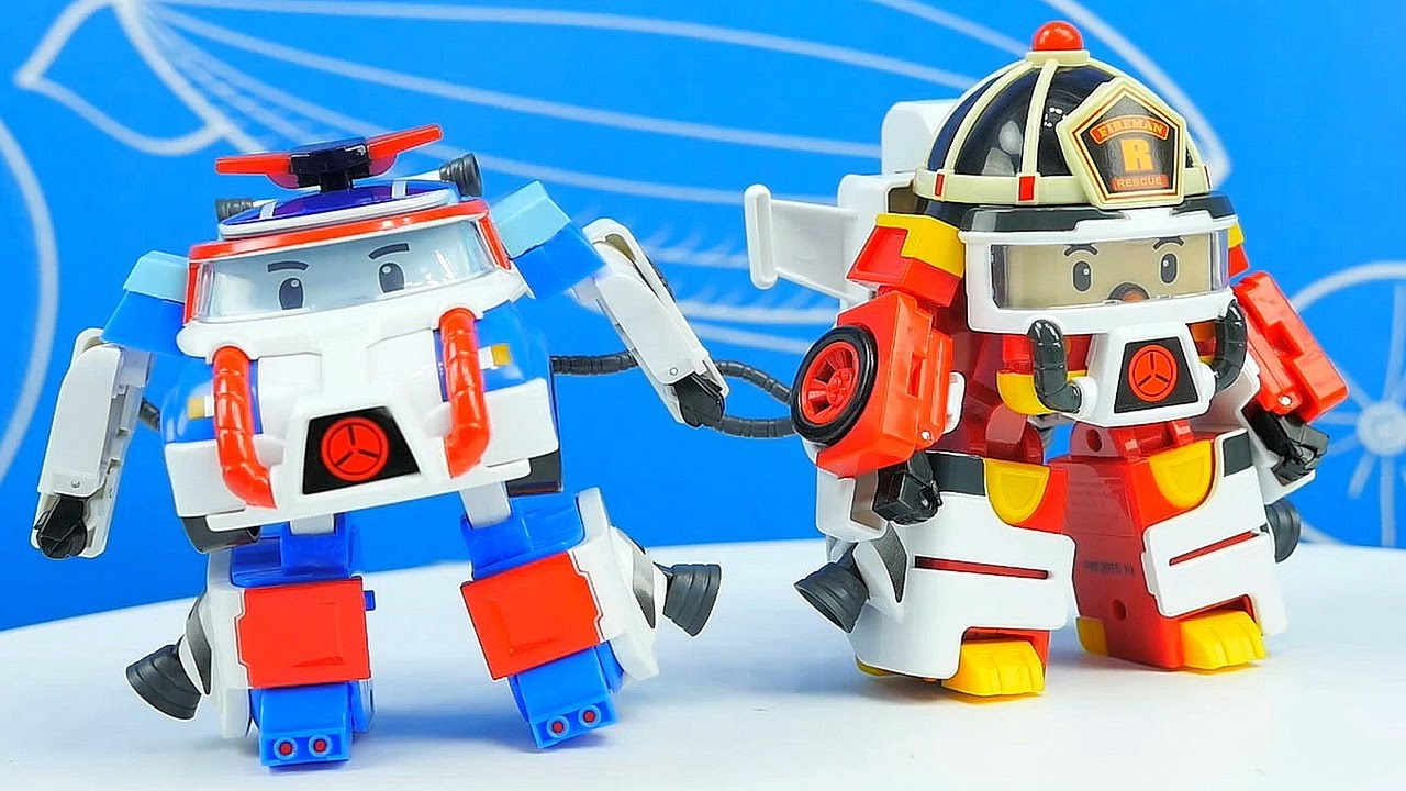 Машинки Робокар Поли все серии подряд. Пожарный Рой на управлении. Робокар Поли космонавт и водолаз