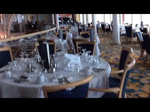 Vision of the seas Aquarius dining restaurant deck 5 / HD