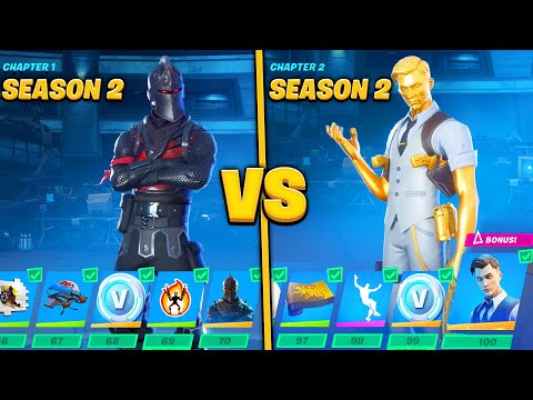 Evolution Of Fortnite Battle Pass Items From Chapter 1 - Chapter 2! (Season 2)