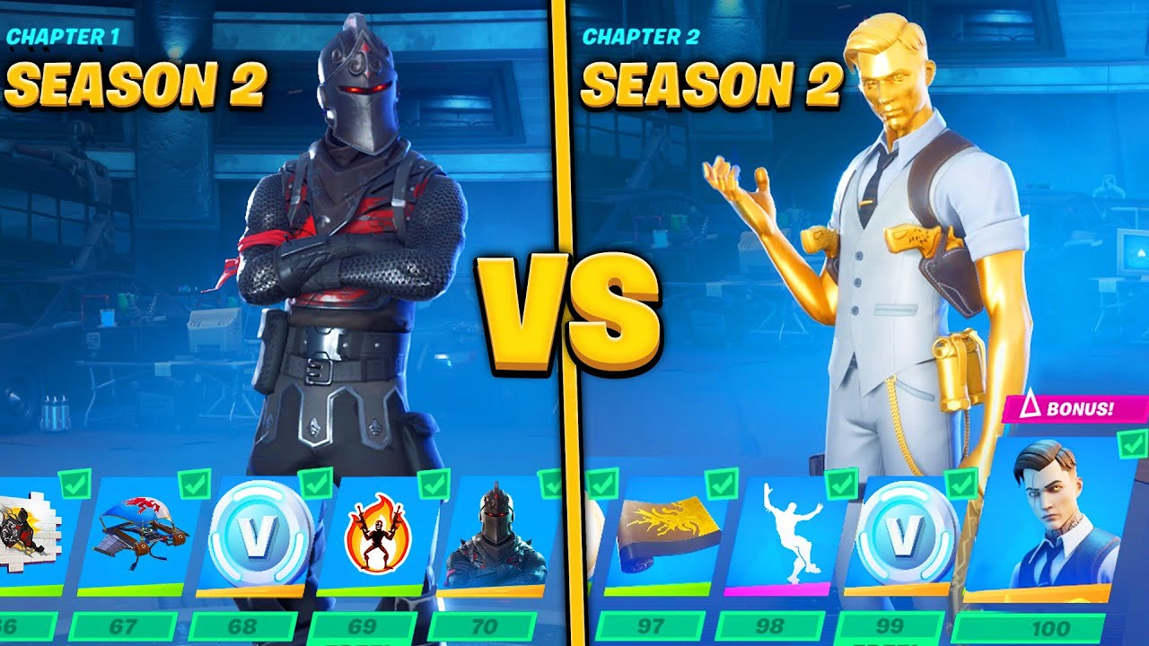 Evolution of Fortnite Battle Pass Items From Chapter 1 ...