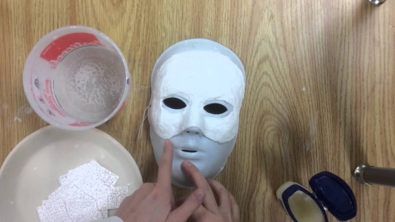 Superbe Bande De Platre Pour Masque #10: Tutoriel Comment Faire Un Masque En Bandelettes De Plâtre - YouTube