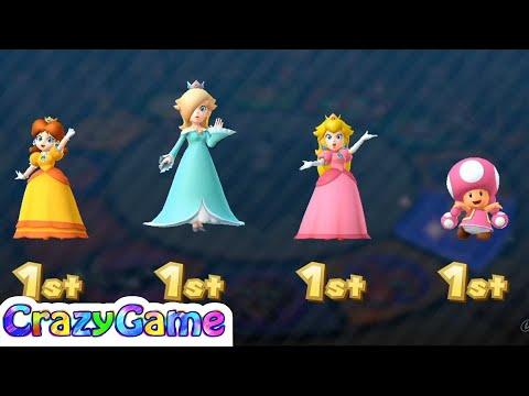 Mario Party 10 Coin Challenge - Peach vs Rosalina vs Daisy vs Toadette Gameplay (2 Player)