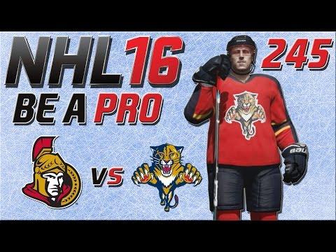 NHL 16 [Be A Pro][60fps][Deutsch] #245 - Ottawa Senators - Florida Panthers ★ NHL 16