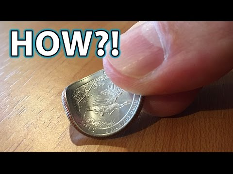 How to BEND a COIN with FINGERS! Magic Trick!