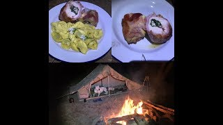 Wild camping and cooking with my Dutch army canvas tent
