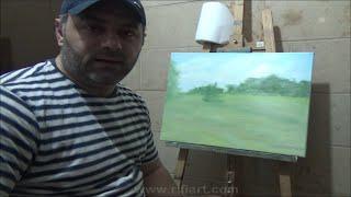 Landscape Nature Oil painting Lesson 1 / رسم منظر طبيعي درس رقم 1