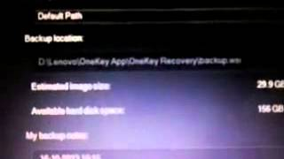 How to Back up Lenovo Laptop By Using One Key Recovery.