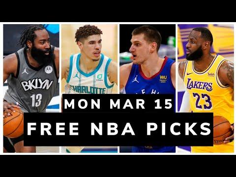 Free NBA Picks Today (Mon Mar 15, 2021) NBA Betting Picks, Vegas Odds, News and NBA DFS Picks