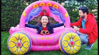 Öykü Pretend Play With Princess Carriage Inflateble Toy - Fun Kids Video