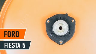 How to change Strut mount FIESTA V (JH_, JD_) - step-by-step video manual