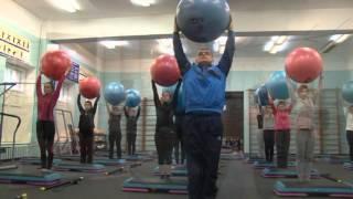 видео: Военно-медицинская академия. Кафедра физической подготовки. Занятие степ - аэробика.