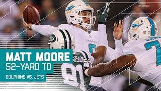 Matt Moore Delivers 52-yard TD Strike to Kenny Stills! | Dolphins vs. Jets | NFL Week 15 Highlights
