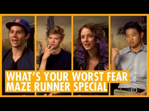 What's Your Worst Fear? Thomas BrodieSangster  Dylan O'Brien  Maze Runner Halloween Special