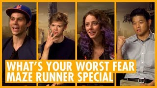 whats your worst fear? thomas brodie sangster   dylan obrien   maze runner halloween special