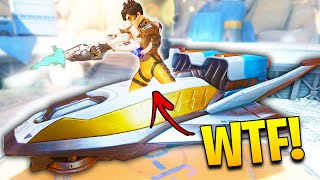 *NEW* OP Tracer Trick! [SIT INSIDE PAYLOAD!] - Overwatch 200IQ Plays & Mind-blowing Moments Montage
