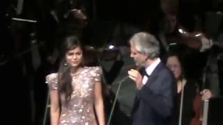 Andrea Bocelli & larisa Martinez- O Soave Fanciulla /Chicago Dec.2017/