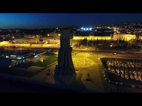 DJI Phantom 4 Pro // Portugal, Lisbon, Belém (4K) at night