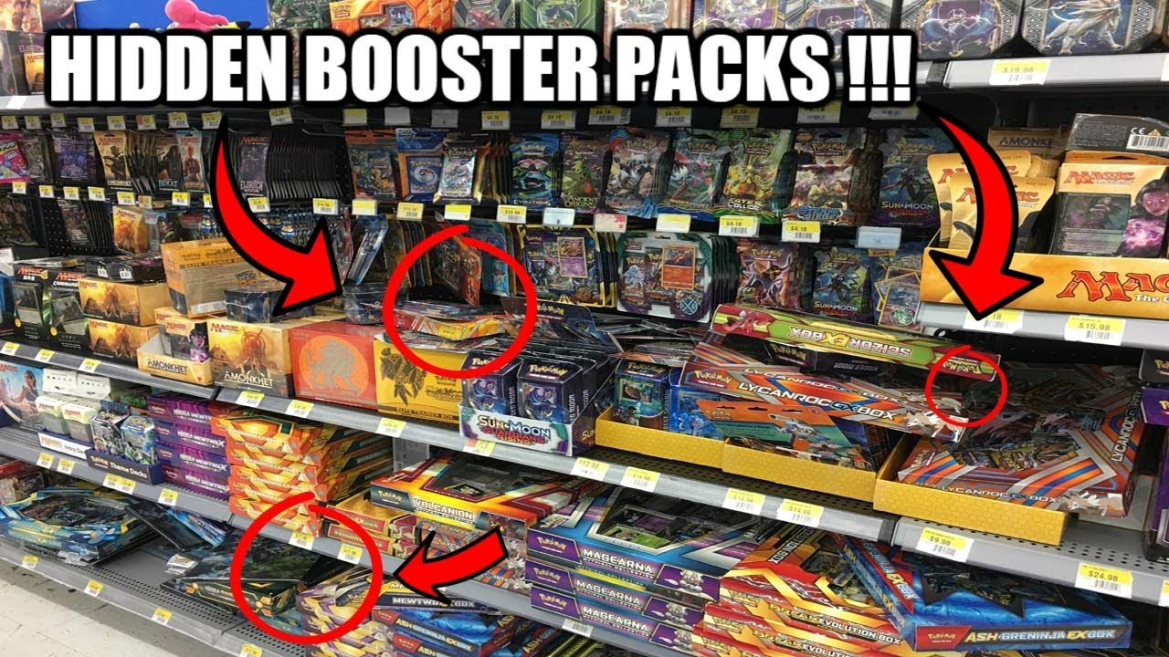 Buying Pokemon Cards At Walmart Finding Hidden Booster Packs