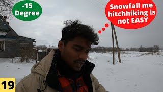 Hitchhiking In Snowfall (Not Easy)   Ep 19