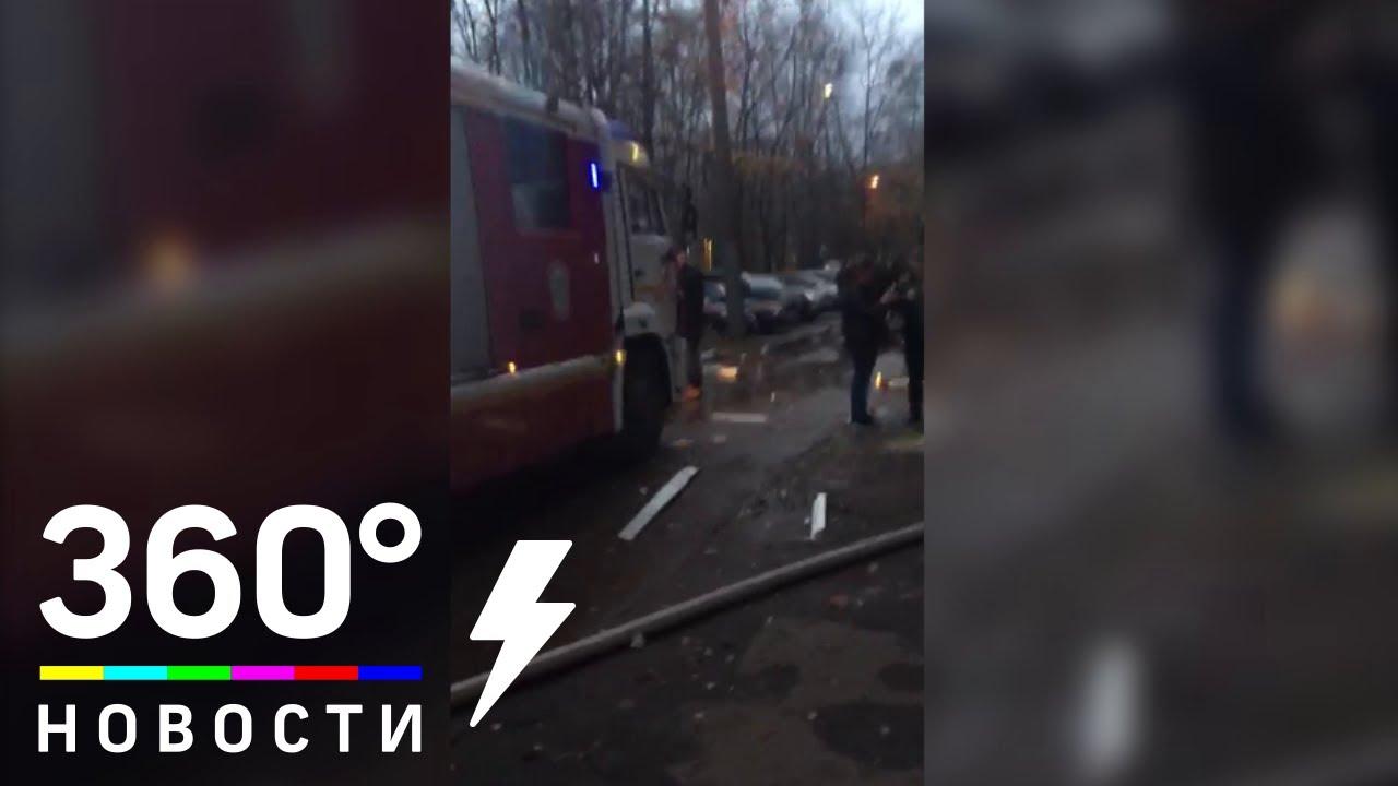 Один человек пострадал при пожаре в доме на юго‐западе Москвы