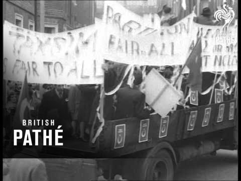 Cypriot Turks March To Downing Street    1958