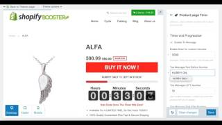 instruction timer shopify booster
