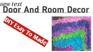 Door Or Wall Decor  Room Decor DIY   Easy To Made