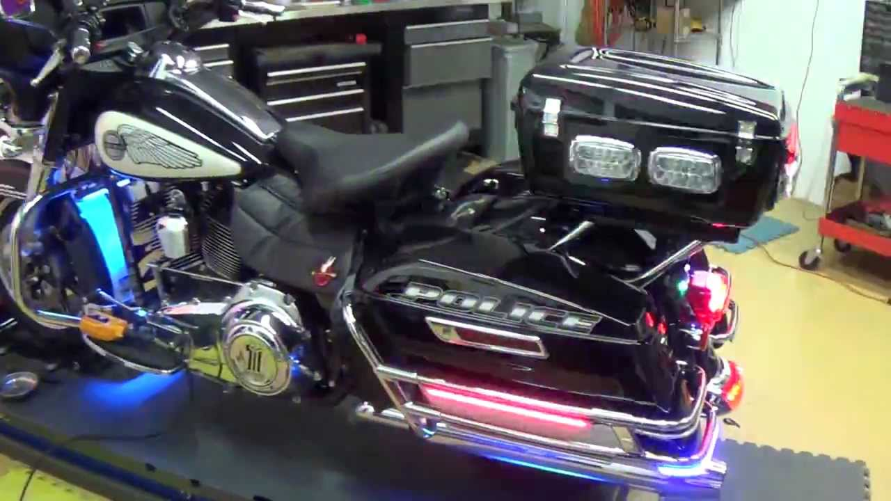Delray Beach Police Motorcycle Light By Chrome Glow Youtube