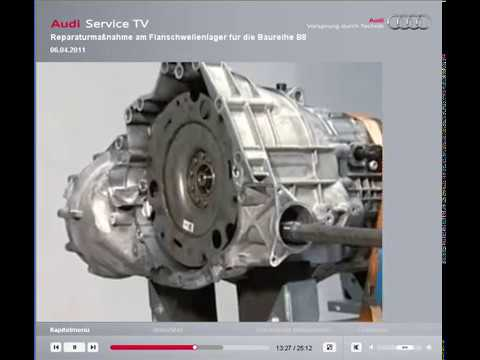 Audi a4 b8 LLM gearbox, left side bearing replace  VIDEO