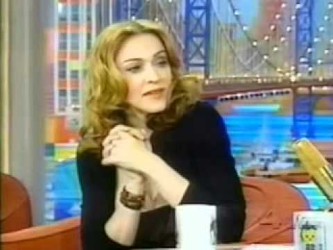 Madonna on Rosie O'Donnell show 2000 part 1