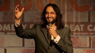 Indian comedian Papa CJ performs at his own charity's fundraiser in Mumbai
