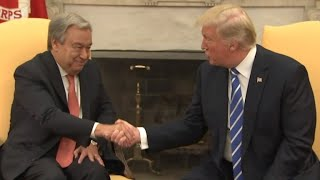 Trump wishes U.N. Secretary General luck with reforms