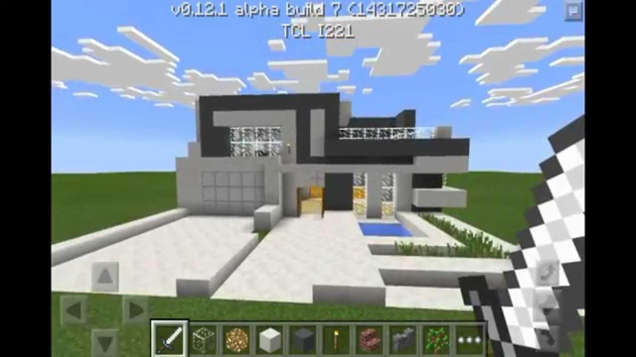 Casa Moderna Minecraft Pe 3 Youtube