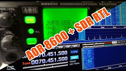 SDR-IQ as/als Panorama Viewer for/für AOR 8600 DX (MKII