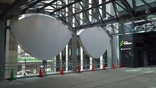 完成した渋谷スクランブルスクエアと渋谷ストリームを結ぶ旧東急東横線渋谷駅かまぼこ型駅舎の高架橋を活用した「国道246号横断デッキ」