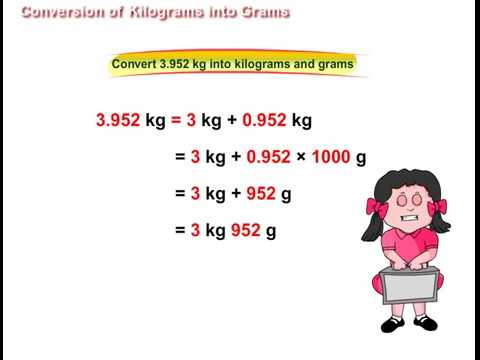 Conversion of Kilograms into Grams