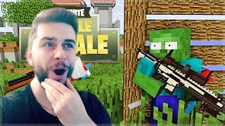 Reacting To Monster School FORTNITE BATTLE ROYALE CHALLENGE! Minecraft Animation