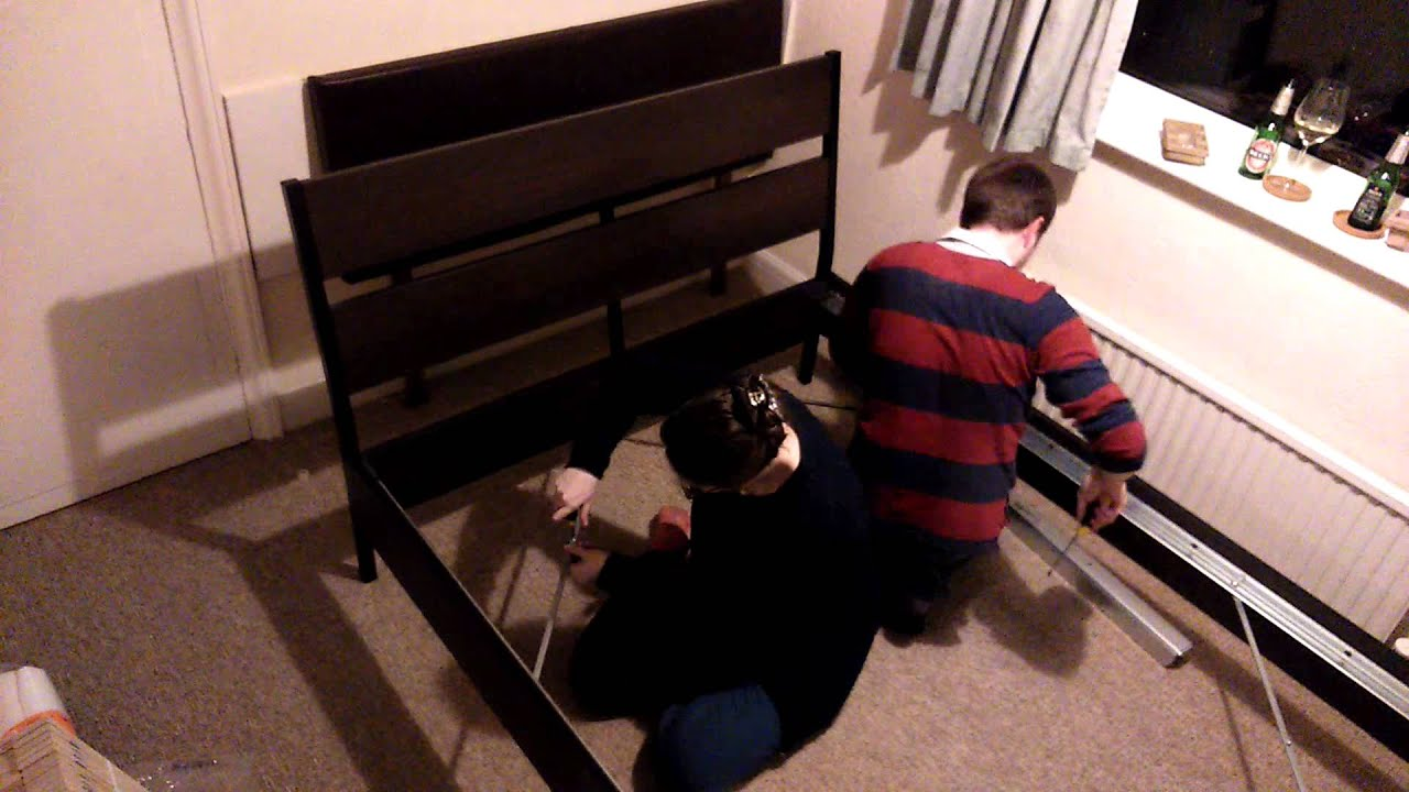 How to build an Ikea TRYSIL double bed Time Lapse - YouTube