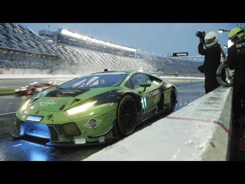 Lamborghini Teams in Daytona, Florida racing at the Rolex 24 hour - Unravel Travel TV