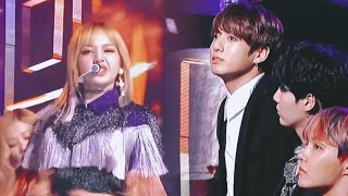 BTS's real reaction to BLACKPINK • playing with fire • [GCMA]