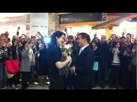 Proposal at Eaton Centre