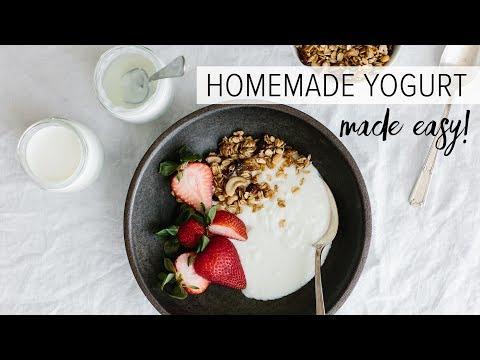 HOW TO MAKE HOMEMADE YOGURT | Healthy Yogurt From Scratch