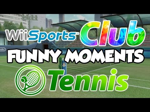 Wii Sports Club Tennis Funny Moments Montage!