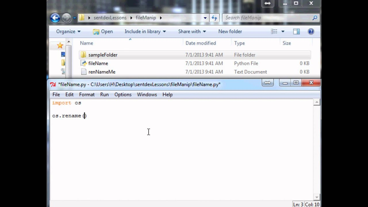 Python Tutorial: How to Rename Files and Move Files with Python - YouTube