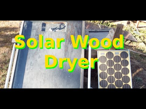 DIY Solar Wood Dryer