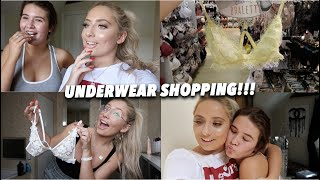 UNDERWEAR SHOPPING WITH MY FRIENDS!! 😱